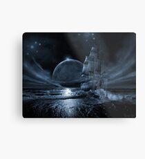 Ghost ship series: Full moon rising Metal Print