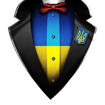Ukraine Flag Ukrainian Roots DNA and Heritage Tuxedo by nikolayjs