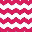 Deep Pink and White Chevron Print by itsjensworld