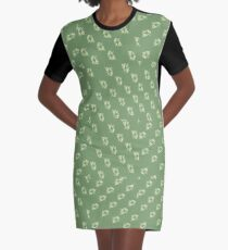 Canal flowers on pale green pattern Graphic T-Shirt Dress