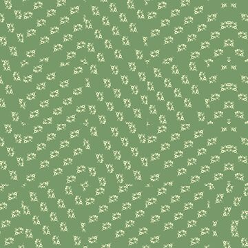 Canal flowers on pale green pattern by bywhacky