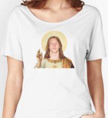 Touchdown Jesus Women's Relaxed Fit T-Shirt