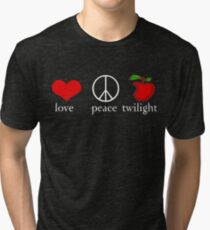Love Peace Twilight T-Shirt Tri-blend T-Shirt