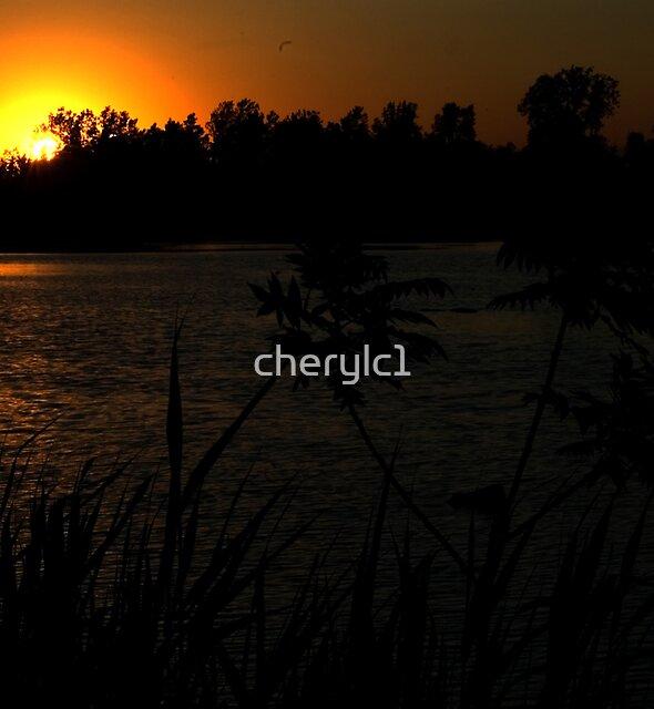 Sunset Pond by cherylc1