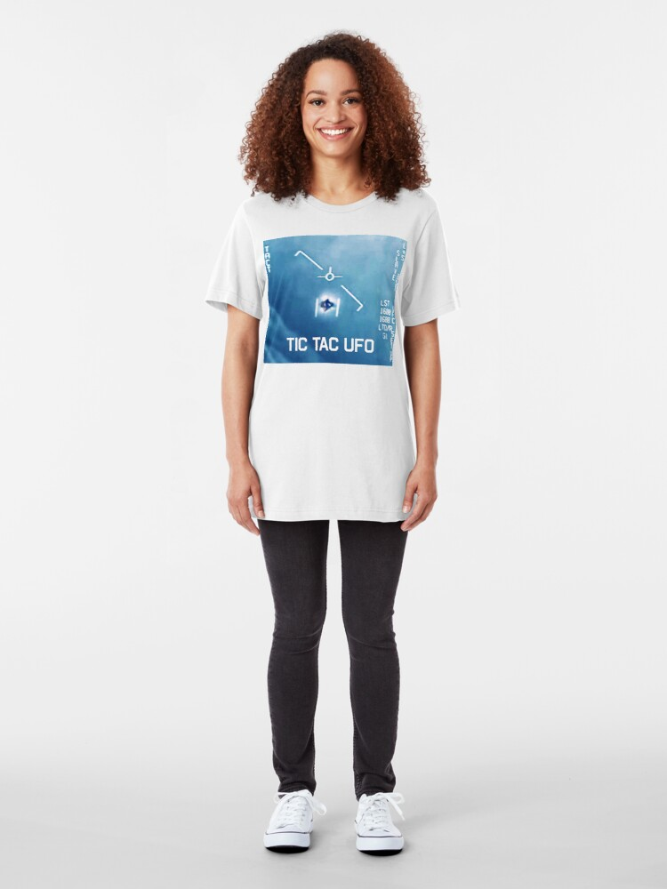 Alternate view of Tic Tac Ufo Slim Fit T-Shirt