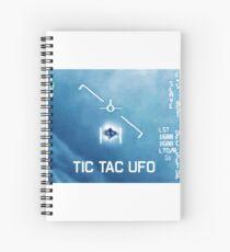 Tic Tac Ufo Spiral Notebook