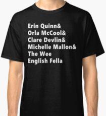 Camiseta clásica Camisa blanca de la lista de chicas de Derry