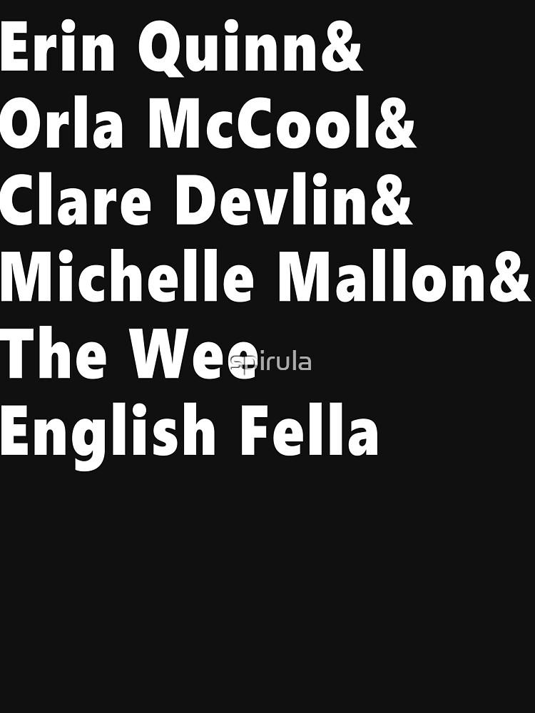Derry Girls List Shirt Weiß von spirula