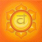 Sacral Chakra painting on canvas by Anastasia Helten