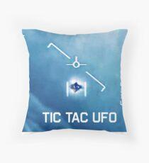 Tic Tac Ufo Throw Pillow