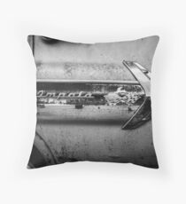 1960s Chevrolet Impala Classic Automobile Black and White Photo - Cars that I Used to Know Series  Throw Pillow