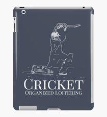 Funny Cricket Batsman Cricketer Design Logo Style iPad Case/Skin