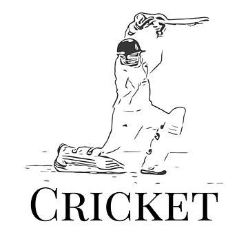 Cricket Batsman Cricketer Design Logo Style by Andrewkgolf
