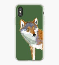 Totem Eastern wolf (lycaon) Vinilo y funda para iPhone