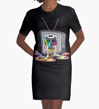 Television Melt of Death Graphic T-Shirt Dress