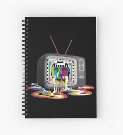 Television Melt of Death Spiral Notebook