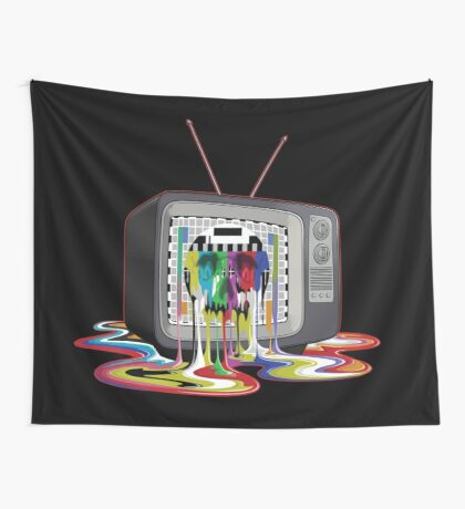 Television Melt of Death Wall Tapestry