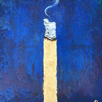 gold blunt on a blue background by Ashboogeydotcom