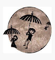 Baudelaire Umbrellas Photographic Print