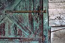 Weathered Green Door by Aaron Campbell