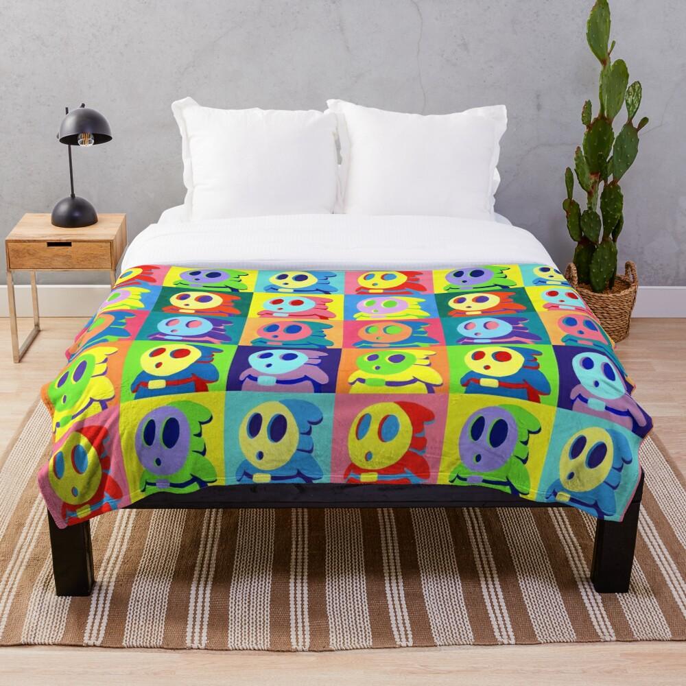Warhol Shyguys Throw Blanket