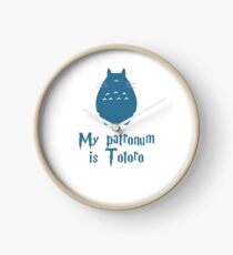 My Patronum is Totoro Clock