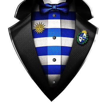 Uruguay Flag Uruguayan Roots DNA and Heritage Tuxedo by nikolayjs