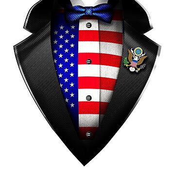 USA Flag American Roots DNA and Heritage Tuxedo by nikolayjs