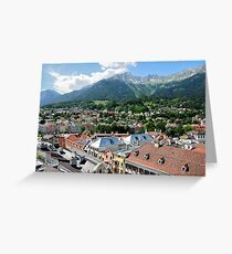 View over Innsbruck, Austria Greeting Card