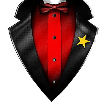 Vietman Flag Vietnamese Roots DNA and Heritage Tuxedo by nikolayjs