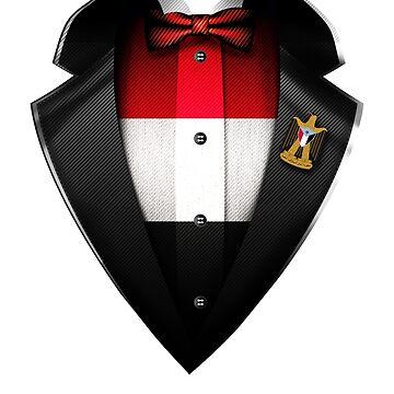 Yemen Flag Yemeni Roots DNA and Heritage Tuxedo by nikolayjs