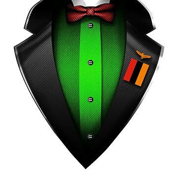 Zambia Flag Zambian Roots DNA and Heritage Tuxedo by nikolayjs