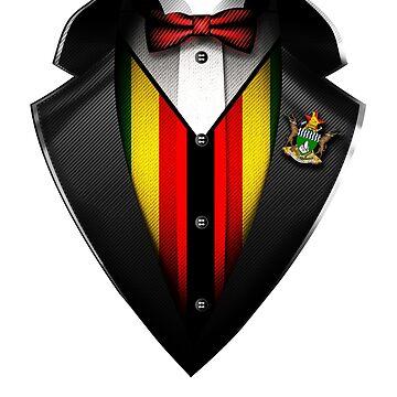 Zimbabwe Flag Zimbabwean Roots DNA and Heritage Tuxedo by nikolayjs
