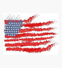 Grunge Flag of America for Patriots Photographic Print