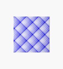 Navy Blue Geometric Squares Diagonal Check Tablecloth Art Board