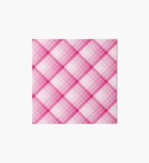 Pink Geometric Squares Diagonal Check Tablecloth Art Board