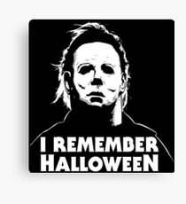 I Remember Halloween - Michael Myers Canvas Print