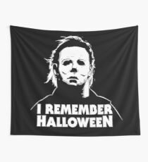 I Remember Halloween - Michael Myers Wall Tapestry