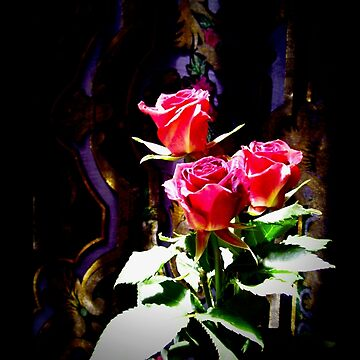 Stained Glass Red Roses 0664 by candypaull