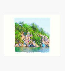 Lámina artística Chimney Rock Lake Martin Alabama