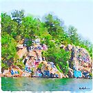 «Chimney Rock Lake Martin Alabama» de Statepallets