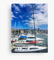 Yachts And Masts Metal Print