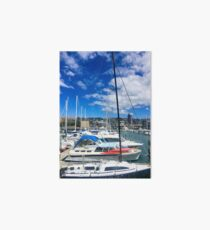 Yachts And Masts Art Board