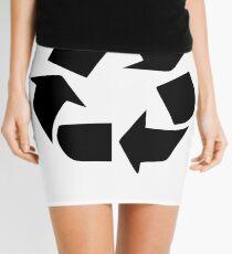 Recycle Symbol Mini Skirt