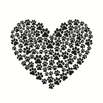Dog - Paw Print - Heart by SterlingTales