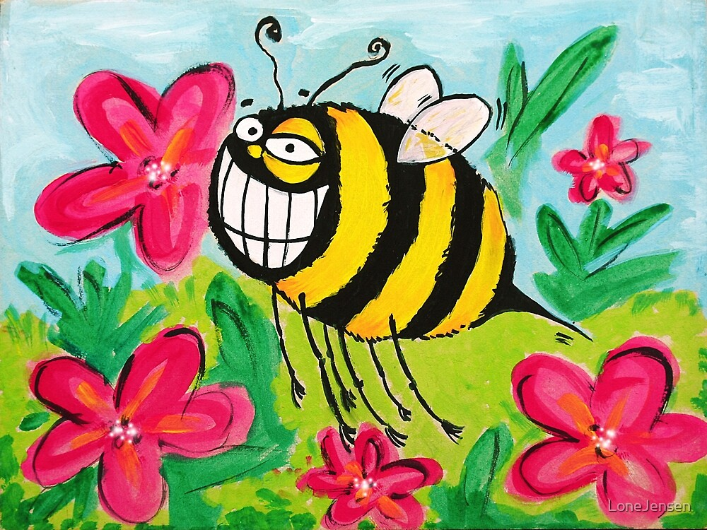 Happy Bee by LoneJensen