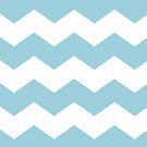 Baby Blue and White Chevron Print by itsjensworld