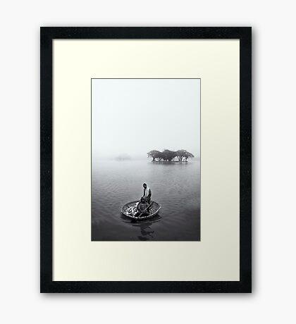 Morning's catch Framed Print
