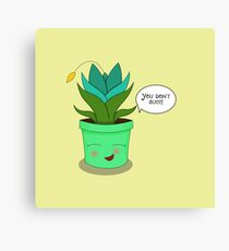 You don't succ! - Blooming Succulent Canvas Print