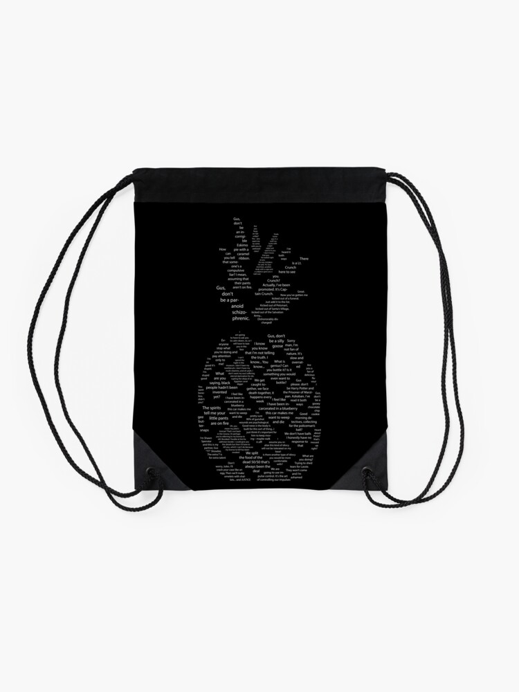 Alternate view of Psych Quotes Pineapple Drawstring Bag
